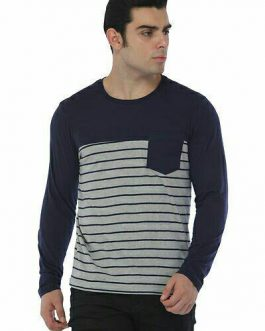 Men's Cotton Striped Full Sleeve Tees