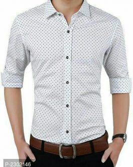 Dotted Cotton Casual Shirts