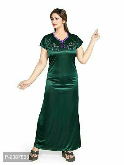 Satin Embroidered Night Gowns