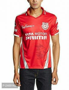 Unisex Polyester IPL Kings xi Punjab T-Shirt