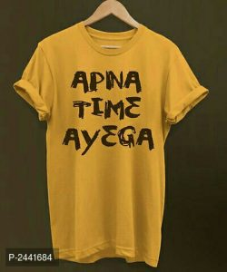 Printed Cotton Tees Apna time ayega