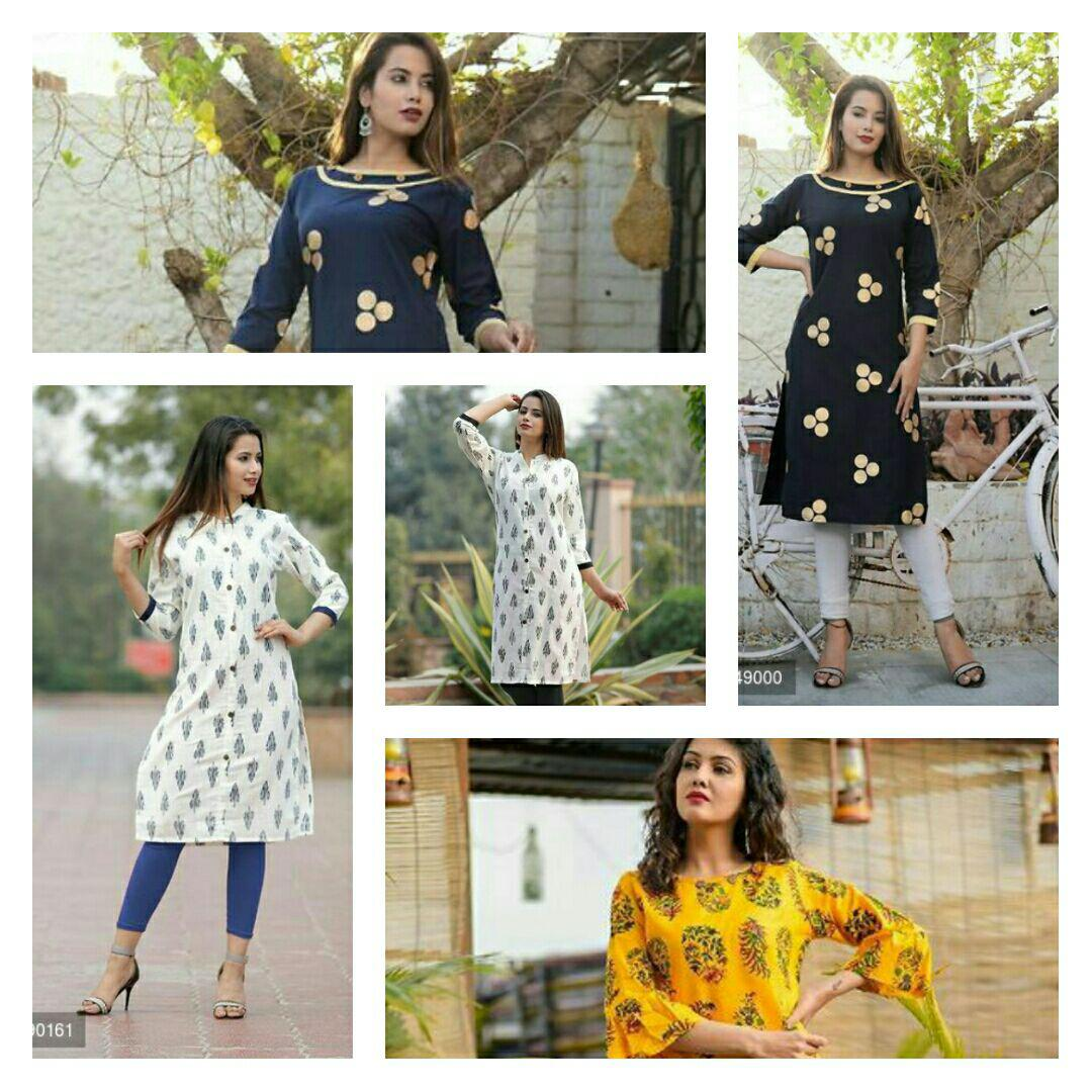 Printed Office Wear Kurtas