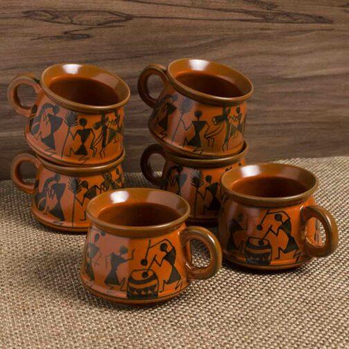 Hand-Painted Ceramic Coffee Mugs Cum Tea Cups