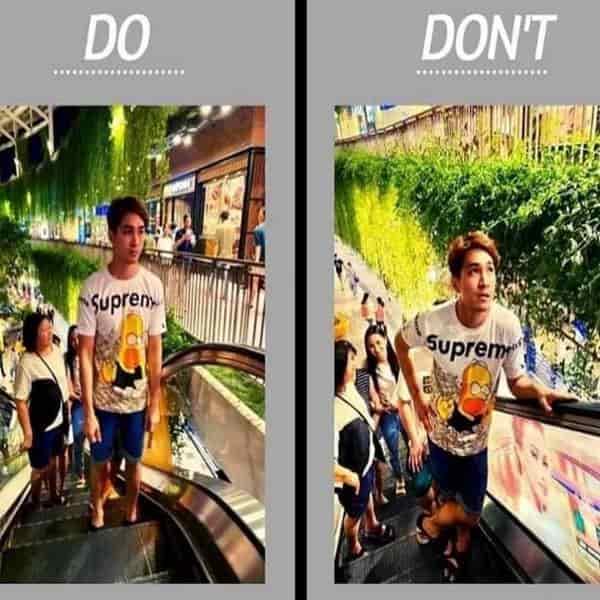 Don't Touch Escalator Railing