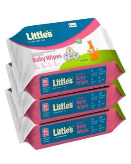 Little's Soft Cleansing Baby Wipes (80 Wipes)