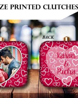 Valentine Special Customized Printed Clutches