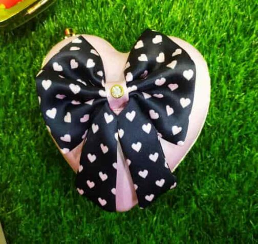 Heart Shape Customized Bow Clutches