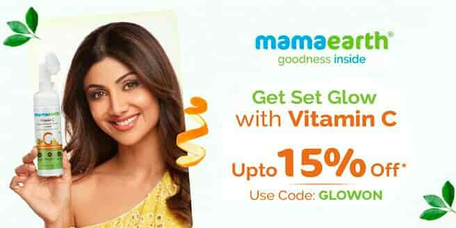 Get a flat 15% discount on Mamaearth website!